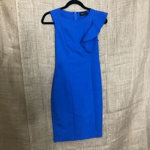 Mohito Collection Blue Ruffle Dress SZ 34 Classy